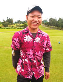 勝連晃徳(あきのり)さん(23歳)千代田カントリークラブ