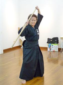 羽地 昇子さん(67)沖縄県剣道連盟審議員