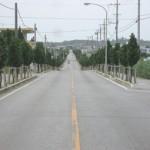 宮古島マラソンで使用される公認コース=12日、城辺加治道