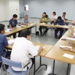 協議会規約案などを協議する参加者たち=21日、平良港ターミナルビル